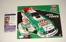 NHRA Champion John Force Signed 8X10 Hero Card with 14x JSA CERT Free Shipping
