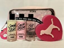 Victoria's Secret PINK Coconut Oil Body Care Gift Set Lot
