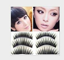 10 Pairs Long Cross Thick Makeup False Eyelashes Natural Black Eye Lashes US