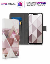 Etui portefeuille pour LG G7 ThinQ / Fit /One en cuir PU avec fentes pour cartes