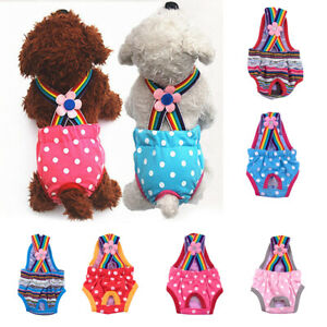 Pets Physiological Pants Polka Dot Striped Female Dog Underwear Sanitary Diaper