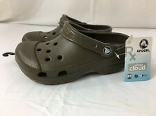 Crocs Rx Silver Cloud Brown XS W 4-5 Diabetic Medical Clogs Ag+