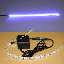 Aquarium LED BLUE Light 18 LEDs 1ft Strip 250 Lumens 12 inch + Power