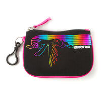 My Little Pony Coin Purse Metallic Neon Outline Rainbow Dash Pink Trim Hasbro