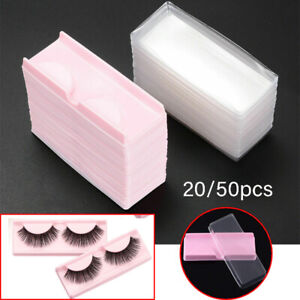 20/50Pcs Mini False Eyelashes Empty Packing Box Reusable Eyes Lashes Case