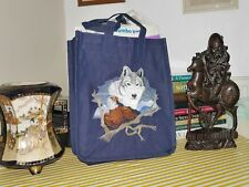 Embroidered Denim/Jeans Tote Bag, Wild Life  @ Wolf & Eagle, Small Size
