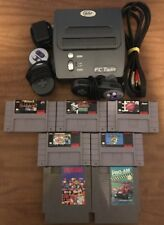 Yobo FC Twin NES & SNES Video Game Console BUNDLE 7 Games 2 Controllers Mario