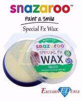 Snazaroo 18ml Special FX Wax - Fake Wounds Scars warts Fancy Dress - Brand New