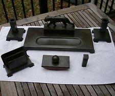 Good SWEDISH Bronze 6 Piece ART DECO DESK SET-PANTHER Top-CAB Brons Mark