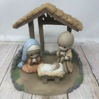 Enesco Precious Moments Oh Come Let Us Adore Him Mary And Joseph Baby Jesus
