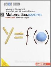 Matematica.azzurro 3 con Maths English, BERGAMINI, ZANICHELLI cod.9788808114952