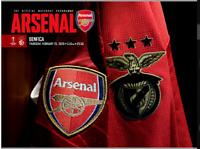 Arsenal v Benfica Europa League 25-2-21 - Electronic Programme RARE