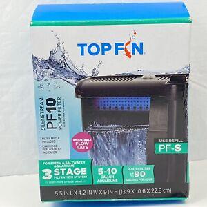 Top Fin Silenstream #TF-10G Power Filter 5-10 Gallon Aquarium Filter