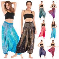Women Ladies Harem Trousers Yoga Hippy Ali Baba Gyspy High Waist Festival Pants