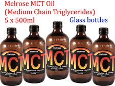 5 x 500ml MELROSE MCT Oil ( Medium Chain Triglycerides )