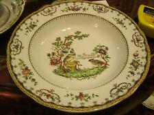 VINTAGE SPODE CHELSEA BIRD  SOUP BOWL. EX.HARRODS 1930-1940s