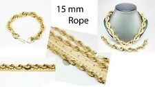 NEW 10 KT Yellow 15 mm Rope 24 Inches chain & 10 Inches Bracelet on Special Deal