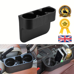 Black Dual Car Cup Holder Van Storage Drinking Bottle Can Mug Mount Stand UK