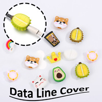 Cute Earphone Data Line Cover Charging Cable Bite Prevents Breakage Protects HOT