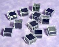 LOT OF 48 EMPTY ACRYLIC GEM BOXES BLACK