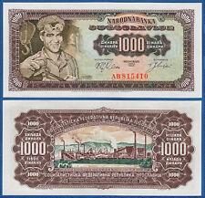 JUGOSLAWIEN / YUGOSLAVIA 1000 Dinara 1963 UNC P.75