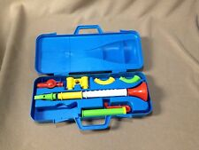 Vintage Fisher Price Crazy Combo Horn Set with Blue Case 1984 #604 Musical Instr