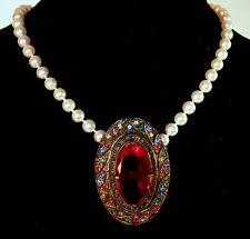 Fabulous Looking!!! Antique Multi Color Dress Clip Pendant