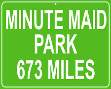 Houston Astros Minute Maid Park Houston,TX mileage sign - distance to your house