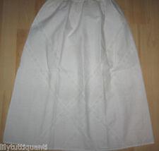 Jupon ancien coton dentelle fine, taille élastique - Taille 36/38