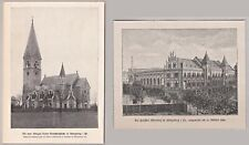 Königsberg, Kaliningrad - 2 Ansichten 1898-1900 - Kirche und Albertina