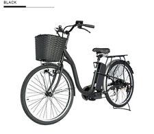 LMB Exercise 1:1 Pedal Assist. Comfort Cruiser Electric Bike Front Basket