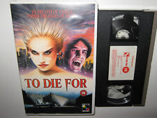 TO DIE FOR - ACADEMY VIDEO VHS VAMPIRE HORROR - BRENDAN HUGHES PRE CERT INT -