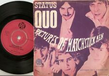 THE STATUS QUO PICTURES OF MATCHSTICK MEN DANISH 45+PS 1968 SPELLING MISTAKE MOD