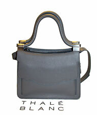 NEW THALE BLANC Audrey Mini SOLD OUT Shoulder bag Fog grey calf Leather Tasche