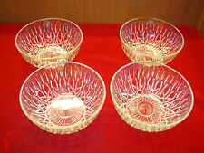 "Lot of 4 Clear Depression Glassware Candy  Bowls - 8"" Round x 3.25"" Deep"