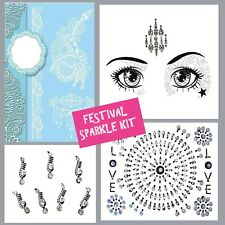 FESTIVAL Job lot- BINDI-Stick On FACE GEM-Temporary TATTOO -GLITTER BODY JEWEL4