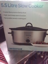 Slow Cooker 5.5 Litre Contempo