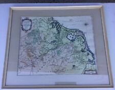 Old Map Framed Circa 1950s