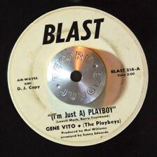 GARAGE ROCKABILLY 45 - GENE VITO - PLAYBOY /I WANT YOU BACK PROMO Blast HEAR