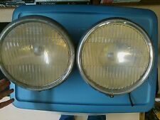 1920's 1930's  Headlight Assembly Pair With Flat Glass Lens - 8 Inch
