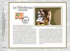 FEUILLET CEF / DOCUMENT PHILATELIQUE / LES BIBLIOTHEQUES SODORES 2008 PARIS