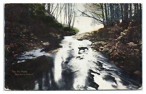 1909 The Pot Holes, Pauchaug Brook, MA Postcard *6V(2)13