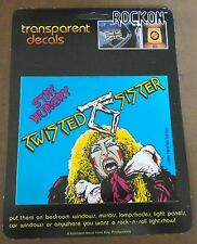 "Twisted Sister ""Stay Hungry"" Rockon Transparent Decal 1984 Rare New"