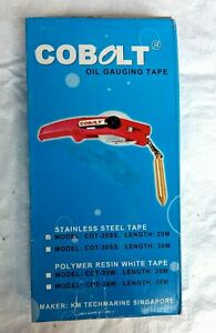 COBOLT OIL GUAGING/ TANK SOUNDING TAPE STAINLESS STEEL 20mtrs/30mtrs