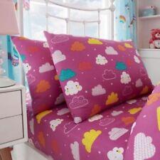 Draps-housses roses en polyester pour le lit