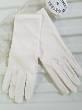 WOMENS BRIDAL GLOVES BY EXCLUSIVE ONE SIZE WHITE NEW  #185
