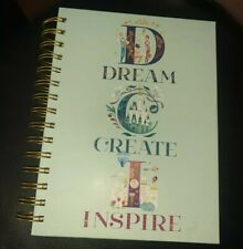 New Disney Parks Castle Alphabet ABC Collection Journal Dream Create Inspire