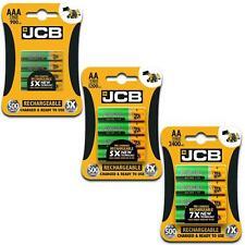 JCB Rechargeable Batteries AA / AAA 900mah 1200 2400 Nimh Long Life Battery 1.2V