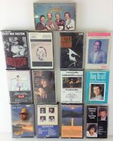 Lot of 13 Vintage Country-Themed Cassette Tapes - Acuff, Black, Statler, Gatlin