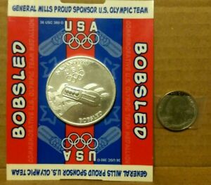 1998 USA Olympic Bobsled Coin Sponsored by General Mills -  In Original Package